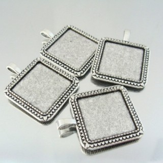 24214-56 PACK OF 4 PCS BASE FOR PENDANT INTERIOR: 25 X 25 MM
