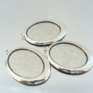 24214-62 PACK OF 3 PCS BASE FOR PENDANT INTERIOR: 30 X 40 MM