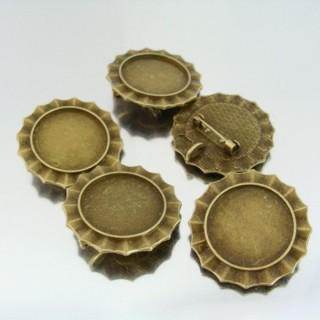 22707 PACK 5 BASES FOR BROOCHES INTERIOR: 25 MM