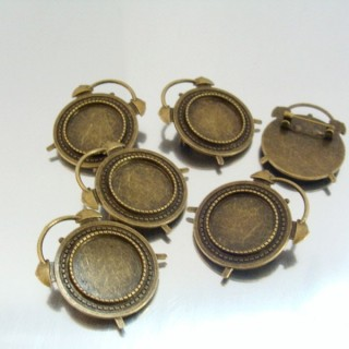 22709 PACK 5 BASES FOR BROOCHES INTERIOR: 20 MM