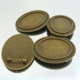 22720 PAQUETE 5 BASES BROCHE INTERIOR: 25 X 35 MM