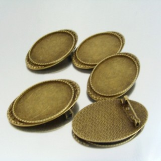 22722 PAQUETE 5 BASES BROCHE INTERIOR: 25 X 35 MM