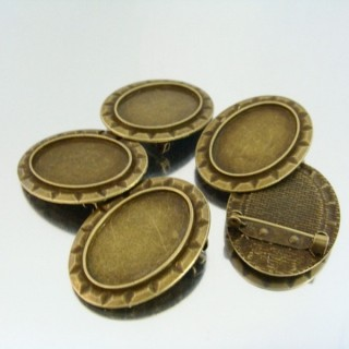 22723 PACK 5 BASES FOR BROOCHES INTERIOR: 20 X 30 MM