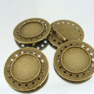 22726 PACK 5 BASES FOR BROOCHES INTERIOR: 25 MM