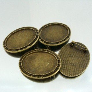 22738 PAQUETE 5 BASES BROCHE INTERIOR: 25 X 35 MM