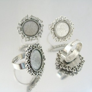 24217 PACK OF 4 BASES OF ADJUSTABLE RINGS: 14 MM