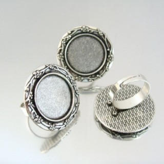 24221 PACK OF 3 BASES OF ADJUSTABLE RINGS: 20 MM