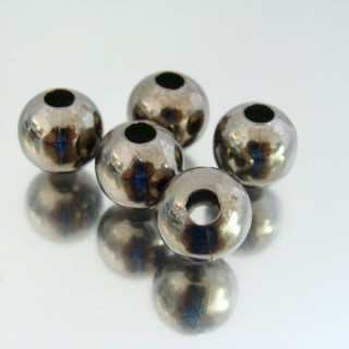 22752-HEMATITA PACK 100 METAL 12 MM BALLS 4 MM HOLE