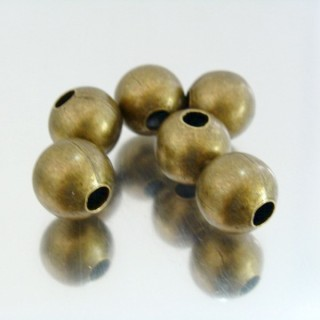 22752-BRONCE PACK 100 METAL 12 MM BALLS 4 MM HOLE