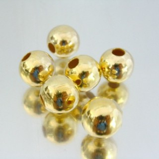 22752-ORO-CLARO PACK 100 METAL 12 MM BALLS 4 MM HOLE