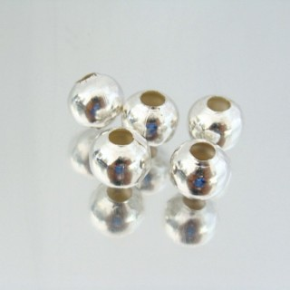 23465-PLATA PACK 200 METAL 10 MM BALLS 4 MM HOLE