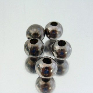 23465-HEMATITA PACK 200 METAL 10 MM BALLS 4 MM HOLE