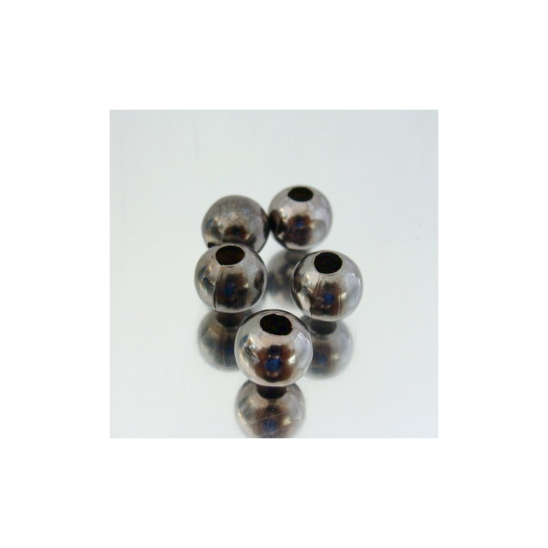 23465-HEMATITA PACK 200 METAL 10 MM BALLS 4 MM HOLE