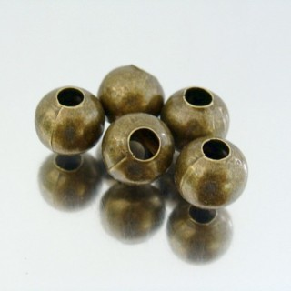 23465-BRONCE PACK 200 METAL 10 MM BALLS 4 MM HOLE