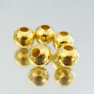 23465-ORO-CLARO PACK 200 METAL 10 MM BALLS 4 MM HOLE