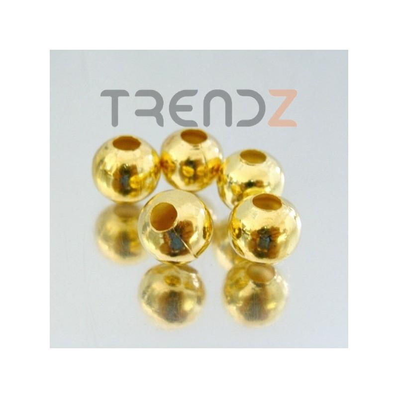 23465-ORO-CLARO PACK 200 METAL 10 MM BALLS 4 MM HOLE