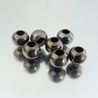 23464-HEMATITA PACK 500 METAL 8 MM BALLS 4 MM HOLE
