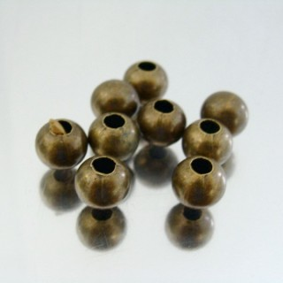 23464-BRONCE PACK 500 METAL 8 MM BALLS 4 MM HOLE
