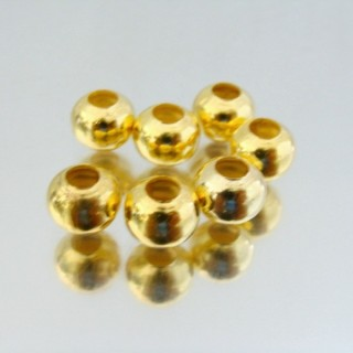 23464-ORO-CLARO PACK 500 METAL 8 MM BALLS 4 MM HOLE