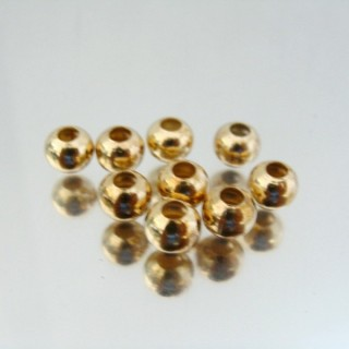 23463-ORO PACK 1000 METAL 6 MM BALLS 3 MM HOLE