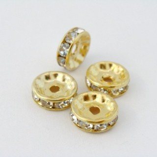 22169-ORO PACK 100 ROUNDELS 10 MM WHITE CRYSTAL