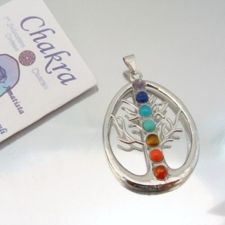 23004-26 FASHION PENDANTS WITH 7 CHAKRA STONES