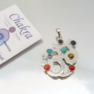 23004-28 FASHION PENDANTS WITH 7 CHAKRA STONES