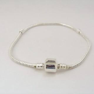 31917 PLAIN METAL 19 CM X 3 MM BRACELET FOR CHARMS