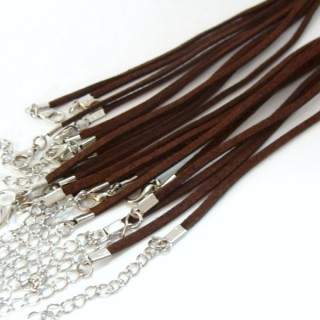 26003-02 PACK 10 SUEDE CORDS 3 MM X 45 + 5 CM