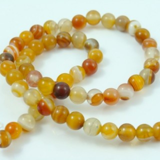 25145-06 STRING OF 62 BEADS OF 6 MM IN DYED AGATE