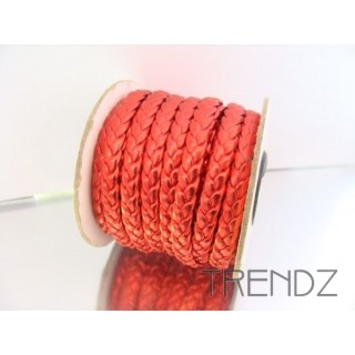 17206 ROJO ROLLO 10 M CORDON 8 MM POLIPIEL TRENZADO