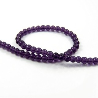 25378-06 STRING OF 56 DYED GLASS BEADS IN 6 MM