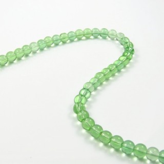 25378-11 STRING OF 56 DYED GLASS BEADS IN 6 MM