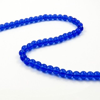 25378-12 STRING OF 56 DYED GLASS BEADS IN 6 MM