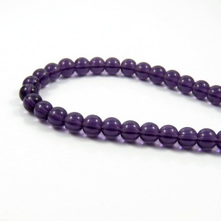 25379-08 STRING OF 40 DYED GLASS BEADS IN 8 MM