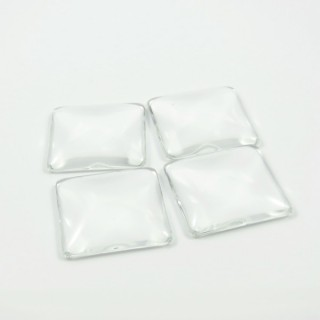 25330 PACK 6 PCS CABUCHON CRISTAL DE 25 X 25 MM