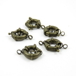 25365-03 PACK OF 5 METAL 17 MM MARINER CLASPS