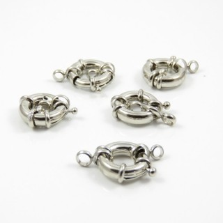 25365-04 PACK OF 5 METAL 17 MM MARINER CLASPS