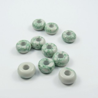 23296-03 PACK OF 10 STONE BEADS WITH 5 MM HOLE