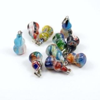 23288 PACK OF 10 MURANO STYLE GLASS PENDANTS