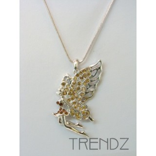 8937 TOPAZ RHODIUM PLATED CZECH CRYSTAL NECKLACE