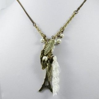 27223-21 LONG FASHION NECKLACE WITH VARIOUS ELEMENTS