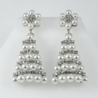 27136-01 PEARL AND METAL FASHION JEWELLERY EARRINGS