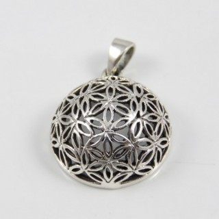 28715 FLOWER OF LIFE PENDANT 23 MM 925 STERLING SILVER