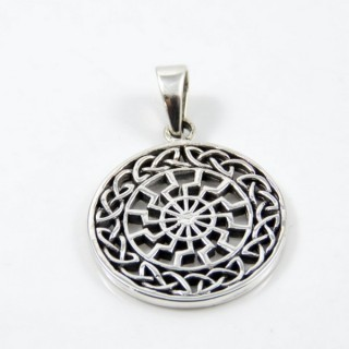 28771 SILVER 925 SACRED GEOMETRY 30 MM ROUND PENDANT
