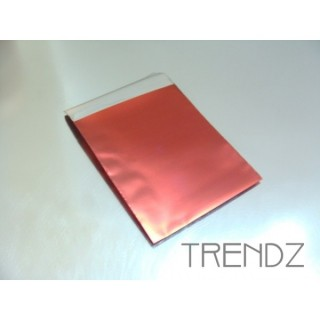 17903-02 RED PACK OF 100 CELLOPHANE 6 X 7 CM ENVELOPES