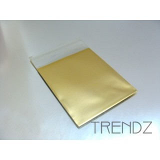 17903-04 GOLD PACK OF 100 CELLOPHANE 6 X 7 CM ENVELOPES