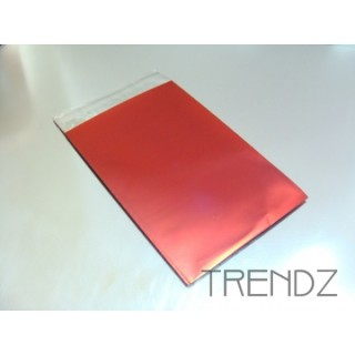 17904-02 RED PACK OF 100 CELLOPHANE 7.5 X 12 CM ENVELOPES