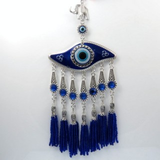 28106 TURKISH EYE & HAMSA CHARM. HEIGHT: 24 CM