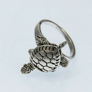 28927-18 STERLING SILVER RING WITH TURTLE SIZE 18